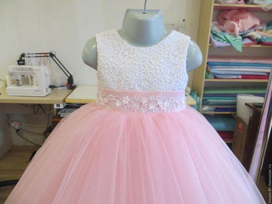 Одежда для девочек, ручной работы. Ярмарка Мастеров - ручная работа. Купить Нарядное платье для девочки на годик. Handmade. Пышное платье