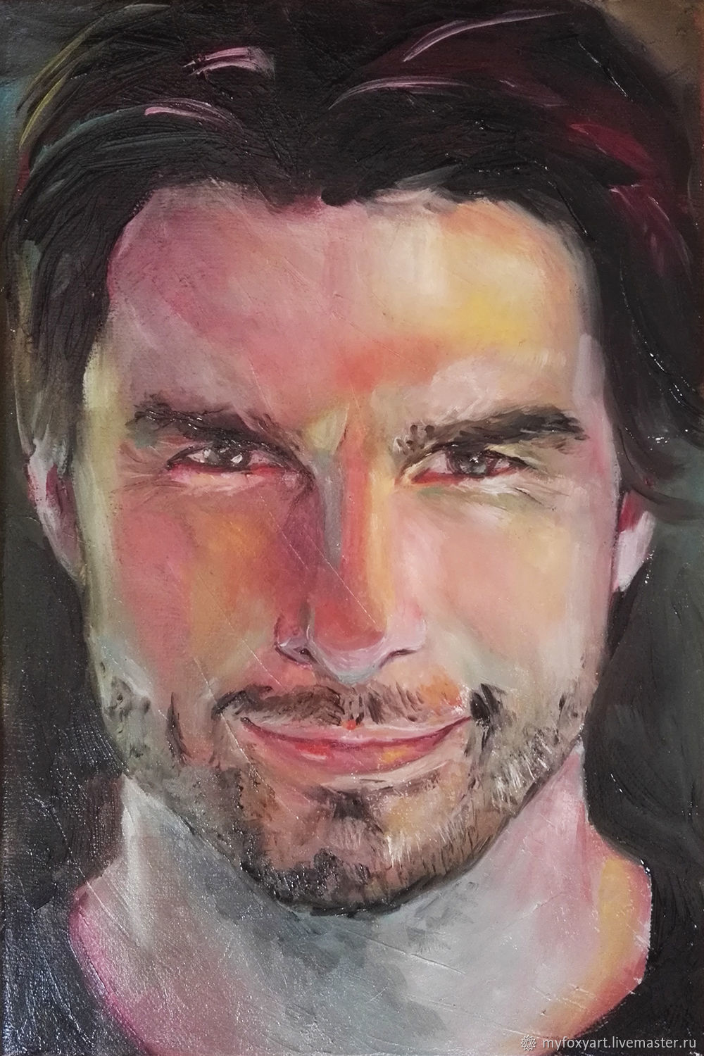 Tom cruise, oil portrait on canvas photo, Pictures, St. Petersburg,  Фото №1