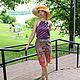 Шляпы ручной работы. Заказать Рыжик. Шляпа для лета.. Саша Толчеева. Ярмарка Мастеров. Летняя шляпа, лёгкая шляпа, большой бант