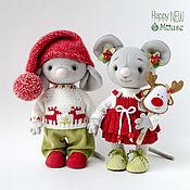Мягкие игрушки ручной работы. Ярмарка Мастеров - ручная работа Мышки Боня и Соня. Handmade.