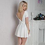 Одежда handmade. Livemaster - original item Dresses, white short dress, open back. Handmade.