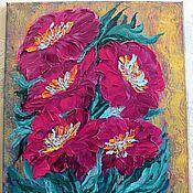Картины и панно handmade. Livemaster - original item Pictures: Flowers at sunset. Handmade.
