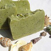 """Мыло ручной работы. Ярмарка Мастеров - ручная работа Шелковое мыло с нуля """"Волшебница Спирулина"""" с водорослями. Handmade."""