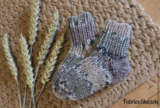 Носки, Чулки ручной работы. Ярмарка Мастеров - ручная работа. Купить Носки для мальчика. Handmade. Серый, Носки шерстяные, носочки