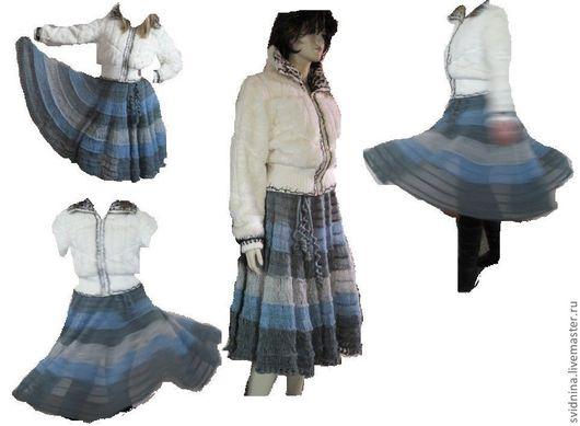 Вязаные юбки лучшее на вилке