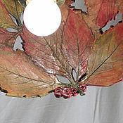 Для дома и интерьера handmade. Livemaster - original item Wild grapes in the fall is a lamp for porch. Handmade.