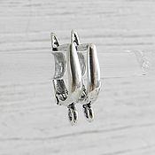 Материалы для творчества handmade. Livemaster - original item Earrings silver plated with lock (art. 2506). Handmade.