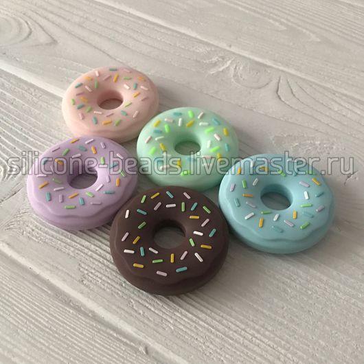 """Развивающие игрушки ручной работы. Ярмарка Мастеров - ручная работа. Купить Силиконовая игрушка-грызунок """"Пончик"""" (donut). Handmade. Пончик"""