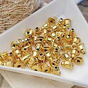 Материалы для творчества handmade. Livemaster - original item 10 PCs. Plugs earring studs in gold (Ref. 2563). Handmade.