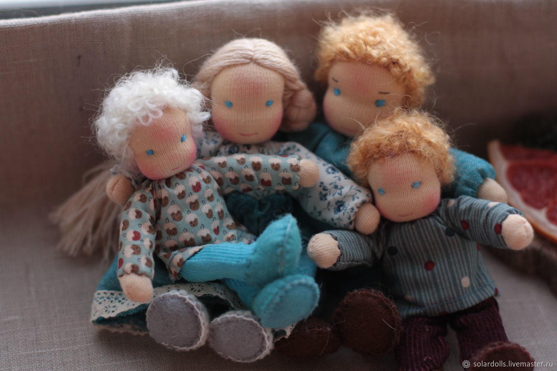 Вальдорфская кукольная семья 13-9 см, Вальдорфские куклы и звери, Москва,  Фото №1