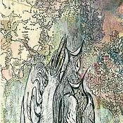 """Картины и панно ручной работы. Ярмарка Мастеров - ручная работа """"Пернатое трио"""". Handmade."""