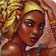 """Кулоны, подвески ручной работы. Ярмарка Мастеров - ручная работа. Купить Кулон-колье """"Африка"""". Handmade. Коричневый, живопись маслом"""