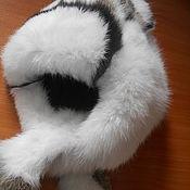"""Аксессуары ручной работы. Ярмарка Мастеров - ручная работа Шапка  """"Ушанка"""" из меха кролика. Handmade."""