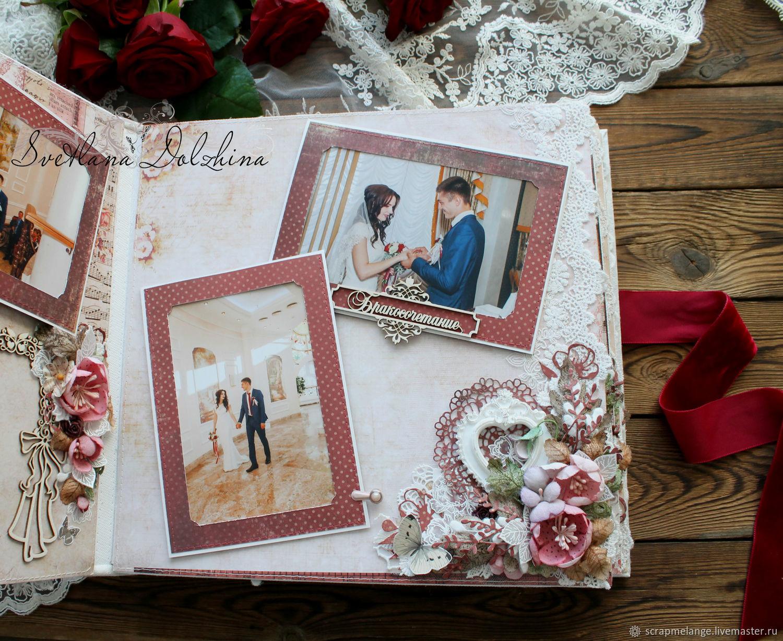 Wedding Album Autumn Wedding Gift White Burgundy Shop Online On