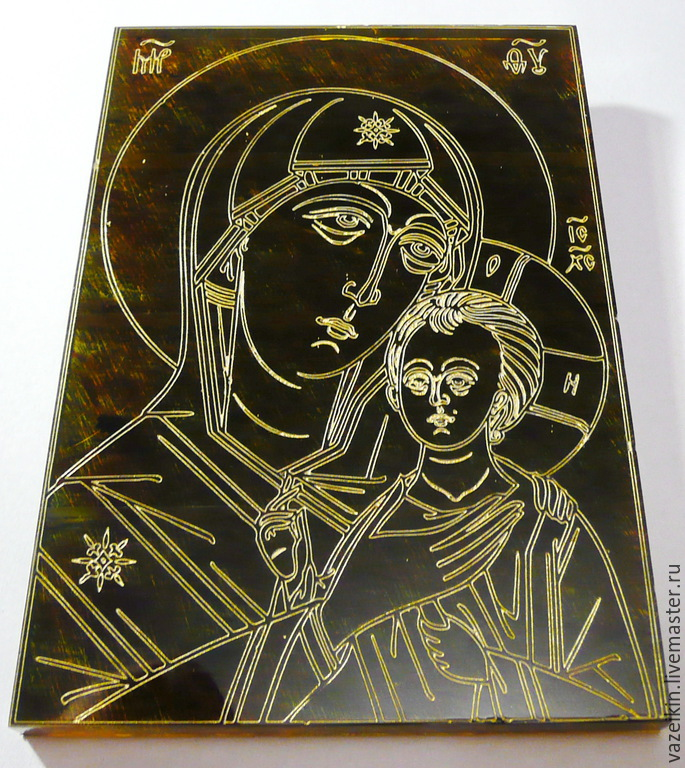 Amber. Petrovskaya Mother Of God R-015, Icons, Svetlogorsk,  Фото №1