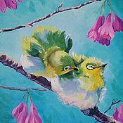 handmade. Livemaster - original item Bird Oil Painting. Handmade.