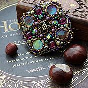 """Украшения handmade. Livemaster - original item """"Grape"""" - Brooch with pearls and rhinestones. Handmade."""