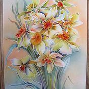Картины и панно ручной работы. Ярмарка Мастеров - ручная работа Нарциссы. Handmade.