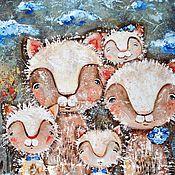 Картины и панно ручной работы. Ярмарка Мастеров - ручная работа 2+3. Handmade.