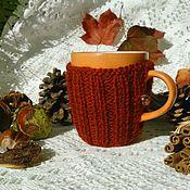 """Посуда ручной работы. Ярмарка Мастеров - ручная работа Кружка в свитере """"Оранжевое настроение"""". Handmade."""
