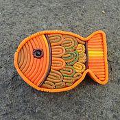 """Украшения ручной работы. Ярмарка Мастеров - ручная работа Брошь """"Золотая рыбка"""". Handmade."""