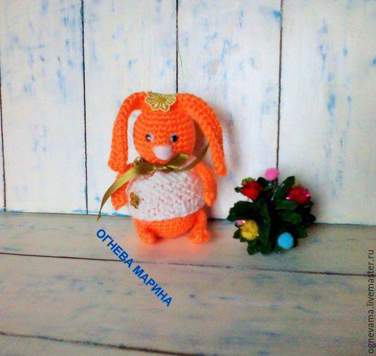 Игрушки животные, ручной работы. Ярмарка Мастеров - ручная работа. Купить Зай оранж. Handmade. Рыжий, игрушка заяц