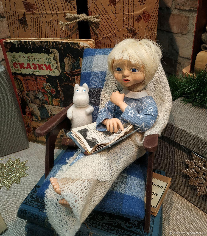 Яника, интерьерная кукла, Куклы и пупсы, Москва,  Фото №1