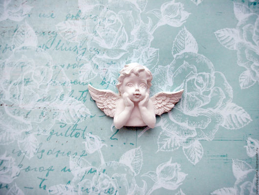 Открытки и скрапбукинг ручной работы. Ярмарка Мастеров - ручная работа. Купить Милый ангелок. Handmade. Белый, ангел из гипса