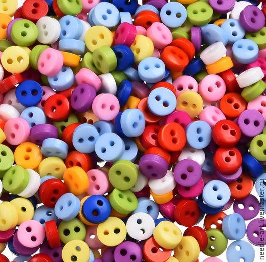 Куклы и игрушки ручной работы. Ярмарка Мастеров - ручная работа. Купить Пластиковые пуговицы для рукоделия 5мм (2 отверстия). Handmade.