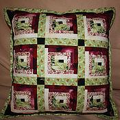 """Для дома и интерьера ручной работы. Ярмарка Мастеров - ручная работа диванная подушка """"Летние сумерки"""" ( продано). Handmade."""
