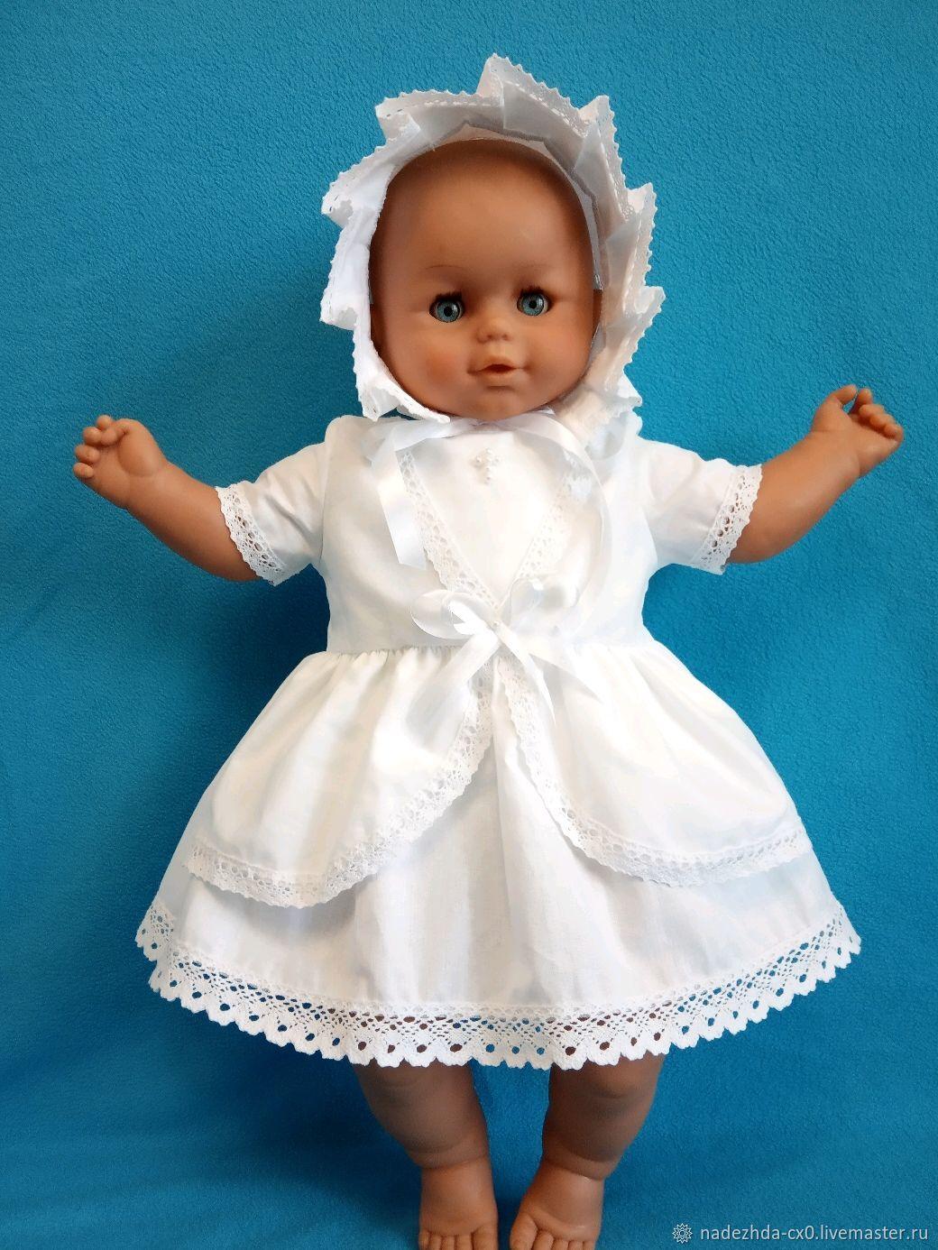 """Крестильный набор """"Стефания"""", крестильное платье с чепчиком, Комплект для крещения, Санкт-Петербург,  Фото №1"""
