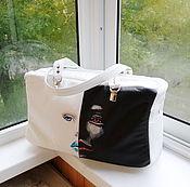 Сумки и аксессуары handmade. Livemaster - original item Sky bag with hand-painted to order for Lilechka). Handmade.