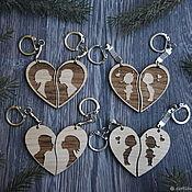 Сумки и аксессуары handmade. Livemaster - original item Paired keychains for lovers. Handmade.