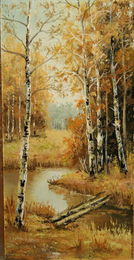Пейзаж ручной работы. Ярмарка Мастеров - ручная работа. Купить Осень. Handmade. Комбинированный, картина в подарок, картина, картина для интерьера