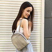 Сумки и аксессуары handmade. Livemaster - original item Backpack small beige genuine leather. Handmade.