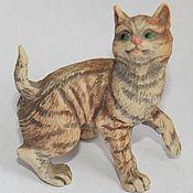 Предметы интерьера винтажные ручной работы. Ярмарка Мастеров - ручная работа Кот кошка котенок статуэтка фарфор Англия  6. Handmade.