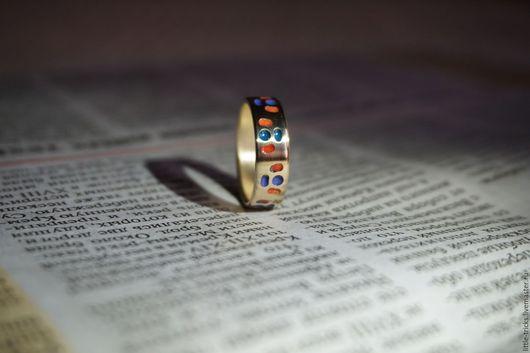 Кольца ручной работы. Ярмарка Мастеров - ручная работа. Купить Кольцо Забава. Handmade. Комбинированный, подарок, авторские украшения, акварель