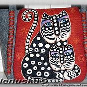 Сумки и аксессуары ручной работы. Ярмарка Мастеров - ручная работа Сумка Polka Dot cats (коты в горошек). Handmade.