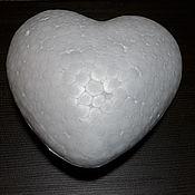 Сердце пенопласт выпуклое