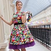 Одежда ручной работы. Ярмарка Мастеров - ручная работа Платье атласное. Handmade.