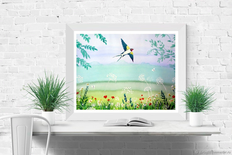 Картина  Ласточка весною в сени к нам летит, Иллюстрации, Подольск,  Фото №1