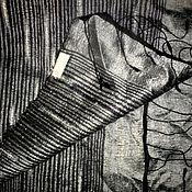 Винтаж ручной работы. Ярмарка Мастеров - ручная работа Шелковый палантин, дикий шелк. Handmade.