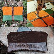 Сумки и аксессуары handmade. Livemaster - original item Cosmetic purse made of suede and leather of Any color!. Handmade.