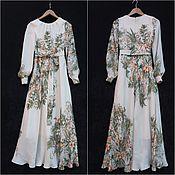 Одежда ручной работы. Ярмарка Мастеров - ручная работа Платье из шёлка. Handmade.