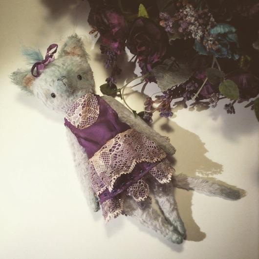Мишки Тедди ручной работы. Ярмарка Мастеров - ручная работа. Купить Кошечка с голубой шерстью. Handmade. Голубой, кошка тедди