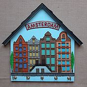Для дома и интерьера handmade. Livemaster - original item The Housekeeper Amsterdam 10. The housekeeper wall.. Handmade.