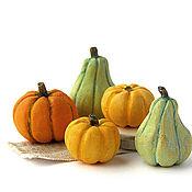Куклы и игрушки handmade. Livemaster - original item Pumpkin family Dollhouse miniature set of pumpkins. Handmade.