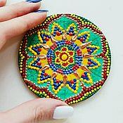 """Картины и панно ручной работы. Ярмарка Мастеров - ручная работа Магнит """"Мандала"""" разноцветная. Handmade."""