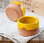 """Посуда ручной работы. Ярмарка Мастеров - ручная работа Желтый стакан """"Витамины"""". Handmade."""