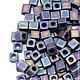 Для украшений ручной работы. Ярмарка Мастеров - ручная работа. Купить MIYUKI Square Matte Black Ab 401 FR 3 mm Бисер Миюки Кубики 10гр.. Handmade.